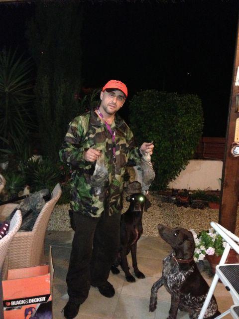 После успешной но трудной охоты под дождем.